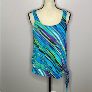 Swimsuits For All Beach Belle Mystic Stripe Top-12